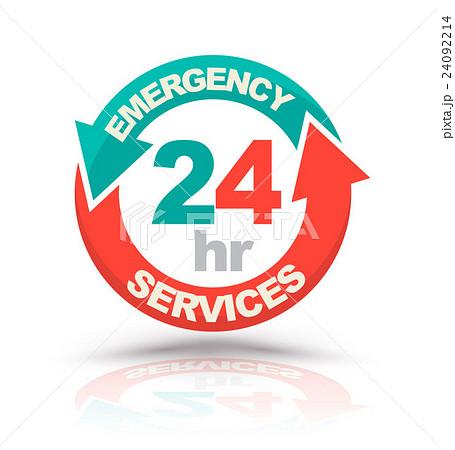 emergency services 24 hours icon のイラスト素材 24092214 pixta