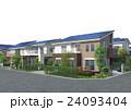 スマートハウス ソーラーパネル 住宅のイラスト 24093404