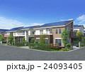 スマートハウス ソーラーパネル 住宅のイラスト 24093405