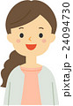 女性 笑顔 人物のイラスト 24094730