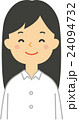 女性 笑顔 人物のイラスト 24094732
