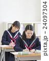 勉強する女子学生達 24097304