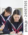 勉強する女子学生達 24097305