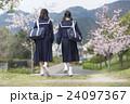 歩く2人の女子学生 24097367