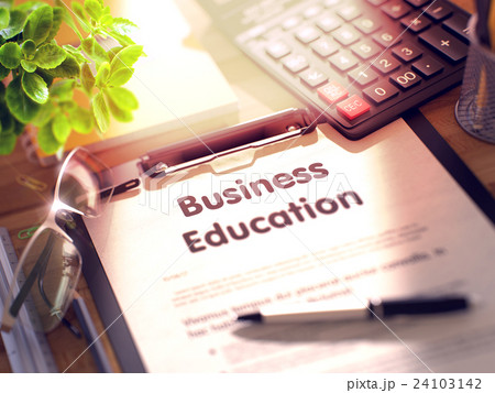 Clipboard with Business Education Concept. 24103142