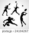 Silhouettes of women professional badminton 24104267