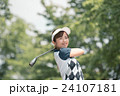 Japanese woman golfer , housewife 24107181