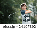 Japanese woman golfer , housewife 24107892