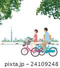 自転車 家族 イラスト 24109248