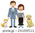 カップル 夫婦 猫のイラスト 24109511