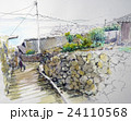 漁村のスケッチ 24110568