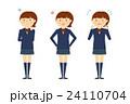 女子高生 全身 悩み イラスト セット 24110704
