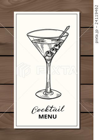 Hand drawn martini cocktailのイラスト素材 [24119462] - PIXTA