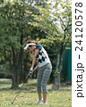 Japanese woman golfer , housewife 24120578