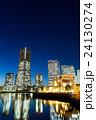 Yokohama city in Japan at night 24130274
