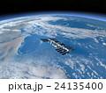 地球とISS (宇宙ステーション)3DCG perming3DCGmp160819 イラスト素材 24135400