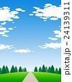 丘の上の樹木 24139311