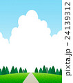 丘の上の樹木 24139312