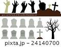 ハロウィン お墓イラストセット 24140700