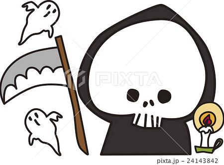 ハロウィン死神イラストのイラスト素材 24143842 Pixta