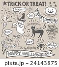 ハロウィン セット 手描きのイラスト 24143875