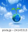 地球から発芽する若葉 24145313