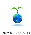 地球から発芽する若葉 24145314