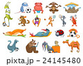 Vector set of animals sport illustrations. 24145480
