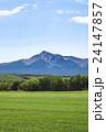 斜里岳 山 麦畑の写真 24147857