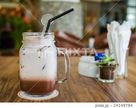 Mug of cold chocolate 24149794
