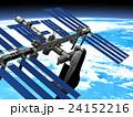 地球とISS &スペースシャトル3DCG perming3DCGmp160819 イラスト素材 24152216