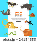 Zoo animals banner for advertising, online tour 24154655
