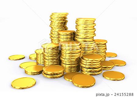 Stack of golden coins.のイラスト素材 [24155288] - PIXTA