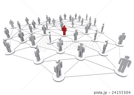 Business human social network. 24155304