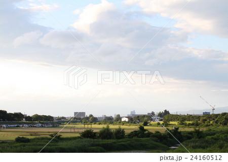 美しい空と米沢の街 24160512