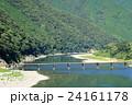 四万十川 河川 沈下橋の写真 24161178