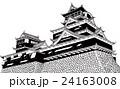 熊本城2 【手描きボールペンイラスト】 24163008