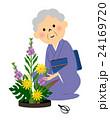生け花をするシニア 24169720