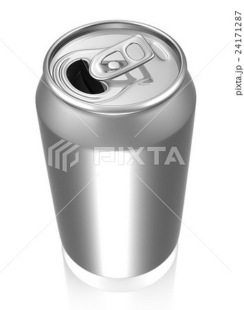 Silver soda can with reflectionのイラスト素材 [24171287] - PIXTA