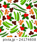 豆 豆果 ベクトルのイラスト 24174608