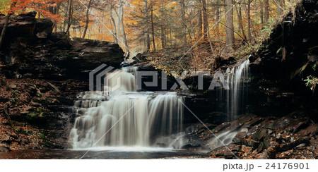 Autumn waterfalls 24176901