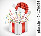 プレゼント箱から飛び出る紙吹雪 24179056