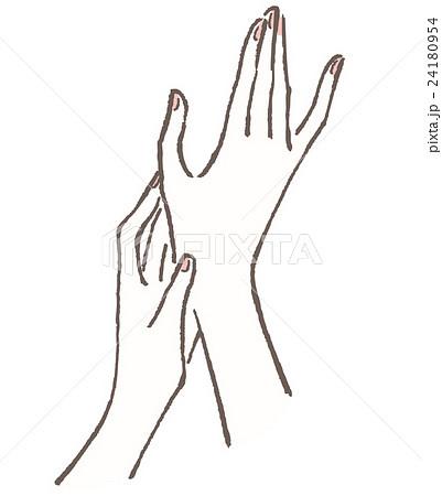 手 女性のイラスト素材 24180954 Pixta