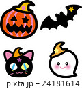 ハロウィン コウモリ 猫のイラスト 24181614
