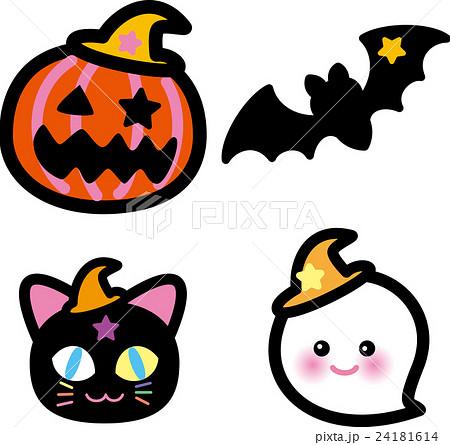 ハロウィン かぼちゃ コウモリ 猫 おばけ 24181614