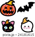 ハロウィン かぼちゃ コウモリ 猫 おばけ 24181615