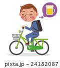 自転車 ビジネスマン 男性のイラスト 24182087