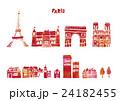 ヨーロッパ 街並み 水彩 24182455