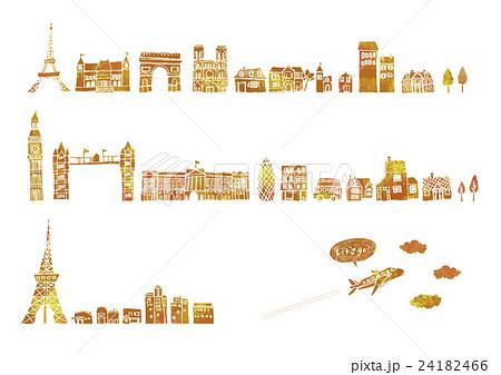 ヨーロッパ 街並み イラストのイラスト素材 24182466 Pixta