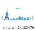 東京 街並み 水彩 24182470